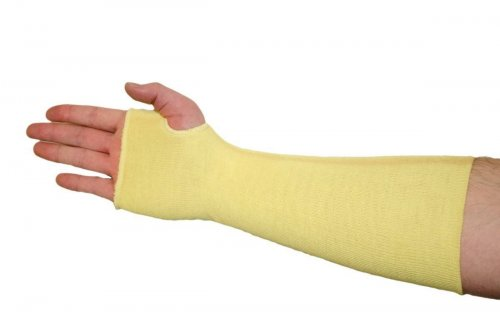 West Chester 2 Ply Kevlar Sleeves with Thumb Hole Cut Level 4
