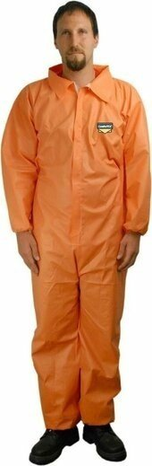 Majestic ComforTEX Microporous Orange Coveralls with Elastic Wrists & Ankles