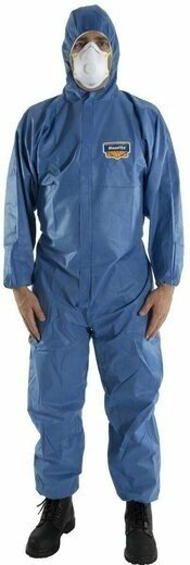 Majestic 74-202F FR BLAZETEX SMS Blue Coveralls with Hood