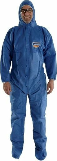 Majestic FR BLAZETEX SMS 74-203F Blue Coveralls with Hood and Boots