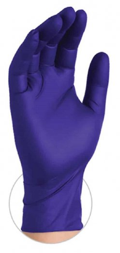 Ammex Indigo 4 Mil Nitrile Exam Powder Free Gloves