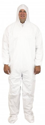 Safety Zone 60 Gram Microporous (Tyvek-like) Coveralls with Hood and Boot- DCWF-SZ-BB