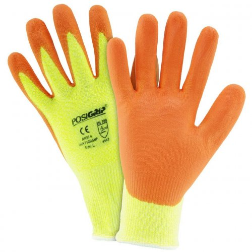 West Chester Hi Vis Cut 5 Nitrile Dipped Foam Gloves