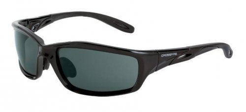 Crossfire Infinity 241 Smoke Lens and Black Crystal Frame Safety Glasses