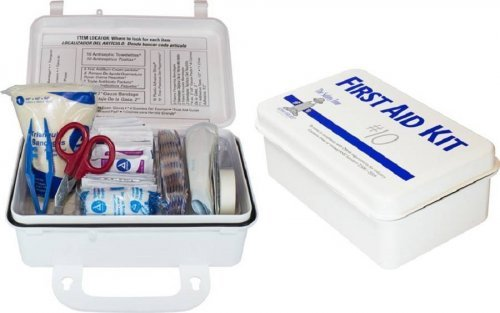 Safety Zone 10 Person Plastic First Aid Kit Wall Mountable - Osha Compliant