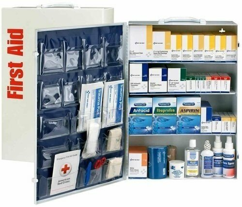 150 Person 4 Shelf First Aid Metal Cabinet