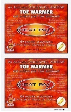 Techniche Heat Pax 5571 Air activated Adhesive Toe Warmers - 40 Pairs