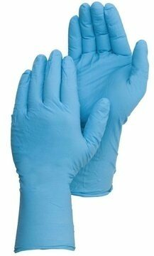 Duraskin 2022W 8 Mil Blue Latex Powder Free Gloves