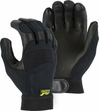 Majestic 2149 Black Hawk Gloves with Mesh Back