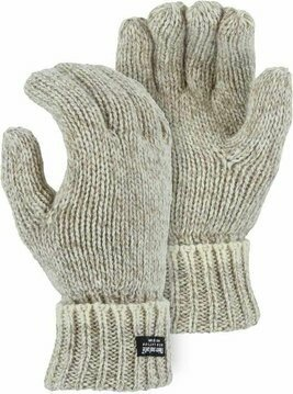 Majestic 3423 Ragg Wool 2 Ply Thinsulate Gloves