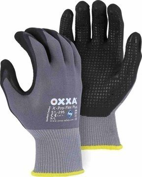 Majestic 51-295 OXXA PLUS Foam Nitrile Dotted Palm Gloves - Compare to MaxiFlex Endurance 34-846