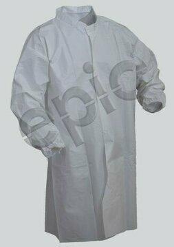 Tian's 846851 Tyvek-like Cleanroom Lab Coat - No Pockets
