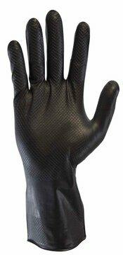 "Safety Zone Premium 8 Mil 12"" Ambi-Zone Nitrile Powder Free Gloves with Aggressive Grip"