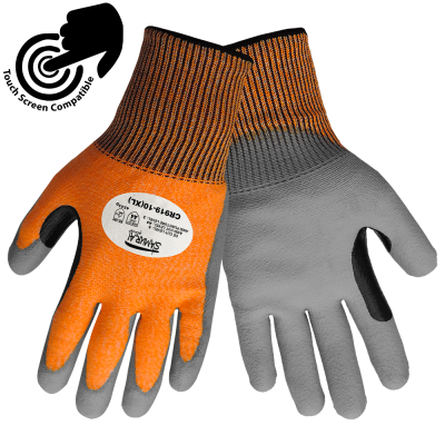 Global Glove CR919 Samurai Tuffalene HDPE Shell ANSI Cut Resistant Level A4 TouchScreen Gloves