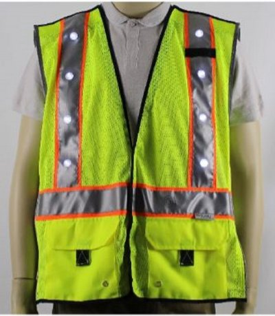 Stop-Lite Rechargeable LED Hi Vis Safety Vest