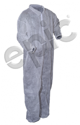 Tian's 210882 Polypropylene Low Lint Coveralls with Elastic Wrists & Elastic Ankles