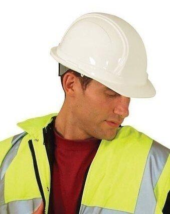 Occunomix Vulcan Hard Hat w/ Squeeze Lock Suspension - V100