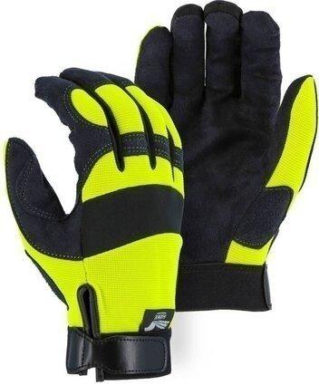 Majestic 2137HY/HO Hi Vis Armor Skin Mechanics Gloves