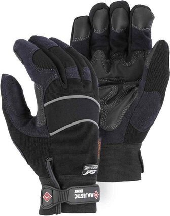 Majestic 2145BKH Armor Skin Waterproof Gloves