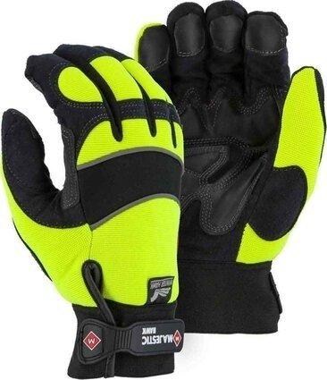 Majestic 2145 Hi Vis Armor Skin Waterproof Gloves