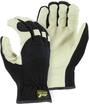Majestic 2152D Pigskin Palm Slip On Gloves