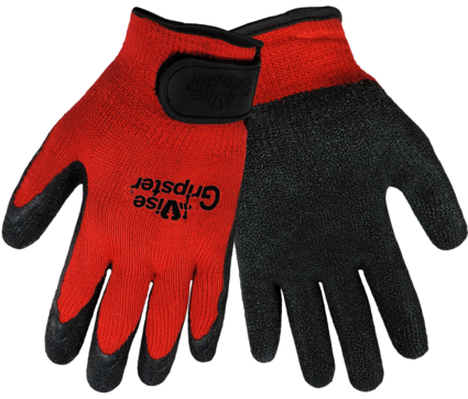 Global Glove Vise Gripster #300RV Rubber Dipped Gloves