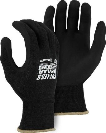 Majestic 31-1365 Cut-Less with Kevlar 18 Gauge Knit Gloves with Foam Nitrile Palm