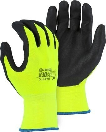Majestic 3228HVY SuperDex Hi Vis Yellow Palm Coated Gloves
