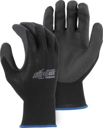 Majestic 3368 SuperDex Hydropellent Black Palm Dipped Gloves