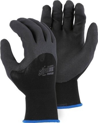 Majestic 3369 SuperDex Hydropellent Black Palm and Knuckle Dipped Gloves