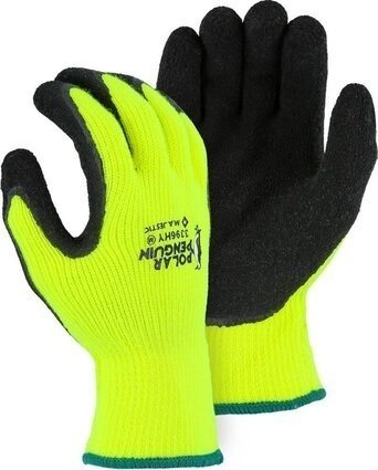 Majestic 3396 Hi Vis Polar Penguin Gloves Ansi Cut Level 2
