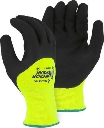 Majestic 3399KNY Emperor Penguin 3/4 Nitrile Dip Hi Vis Insulated Waterproof Gloves