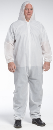 West Chester 3406 PE Laminated Coveralls With Hood & Elastic Cuffs