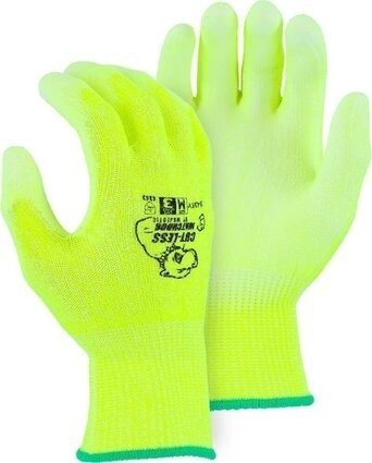 Majestic 35-435Y HPPE Hi Vis Cut Level 3 Gloves