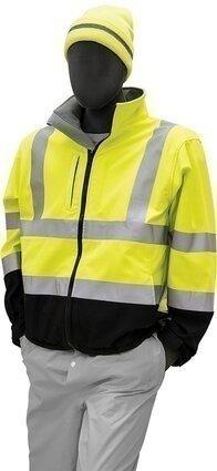 Majestic 75-1371 Hi-Vis Black Bottom Water Resistant Softshell Jacket - ANSI 3