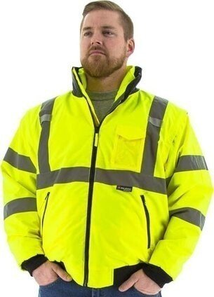 Majestic 75-1381 Hi Vis 8 in 1 Bomber Jacket ANSI 2