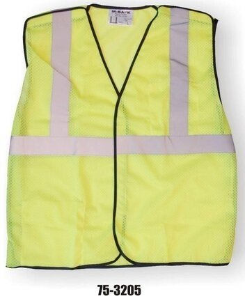 Majestic 75-3205 Hi-Vis Yellow Mesh Vest with 5 Point Breakaway - ANSI 2