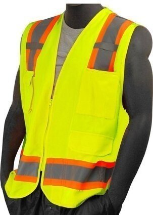 Majestic 75-3223/3224 Hi-Vis Heavy Duty Surveryor's Vest with Mesh Back - ANSI 2