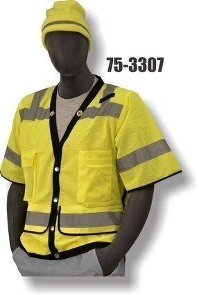 Majestic 75-3307/3308 Hi-Vis Heavy Duty Vest - ANSI 3