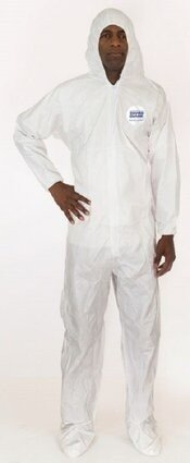 Enviroguard 8019 MP Tyvek Like Liquid Resistant Coveralls with Hood & Boot
