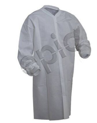 Tian's 843885NP Polypropylene Cleanroom Lab Coats - No Pockets