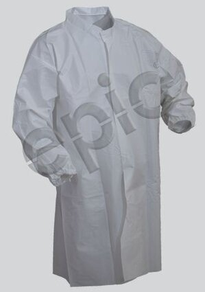 Tian's 846851 Tyvek-like Cleanroom Lab Coat - No Pockets