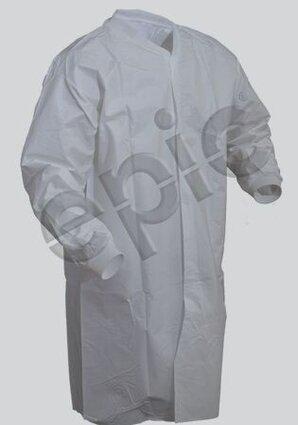 Tian's 846855 Tyvek-like Lint Free Film Coated Cleanroom Frock - No Pockets