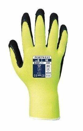 Portwest A340 Latex Foam Hi Vis Grip Gloves