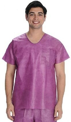 "ValuMax 3520U Fluid Resistant SMS Scrub Top  ""U"" Neck - Unisex"