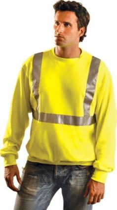Occunomix Classic Lightweight Crew Neck Sweatshirt - ANSI Class 2