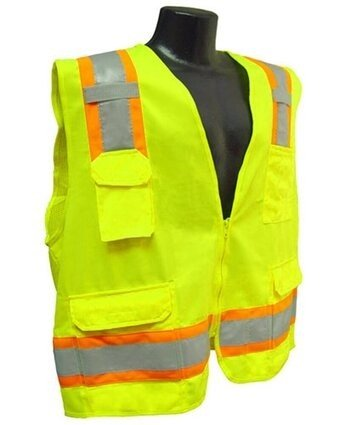 Radians SV6 Two Tone Solid Front/Mesh Back Surveyor Vest - ANSI 2