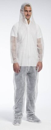 West Chester 3509 Standard Spunbond Polypropylene Coveralls with Hood and Boots