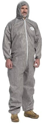 West Chester C3906 Posi M3 Gray Coveralls with Hood Elastic Wrist & Ankles