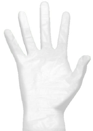 Clean Safety CS110X Clear Eco Friendly Vinyl Powdered Gloves